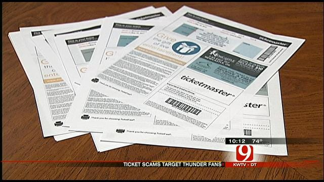 Scammers Selling Fake Thunder Playoff Tickets