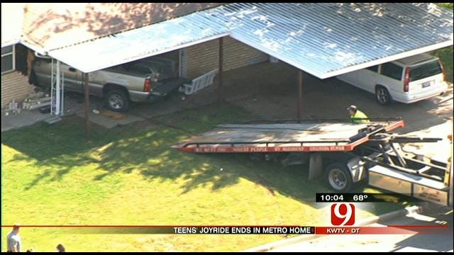 Teenagers On A Joy Ride Crash Truck Into Pastor's OKC Home