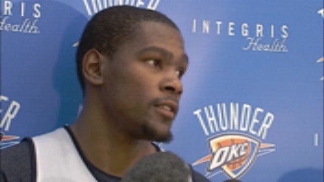 Kevin Durant Speaks To The Media