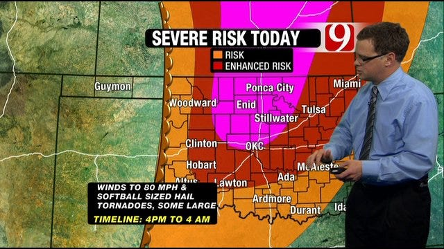 Most Of Oklahoma At Risk For Severe Weather Saturday