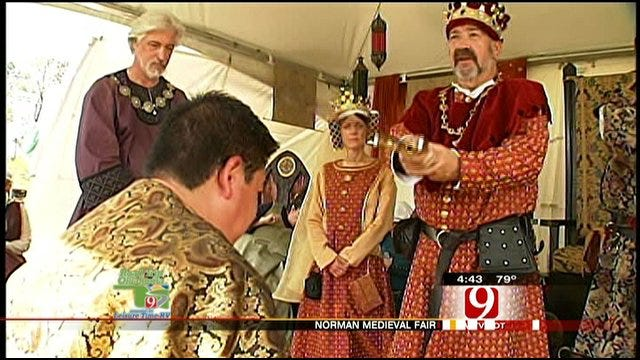 Darren Brown Gets Kinghted At Norman Medieval Fair