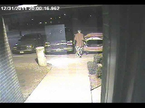 Surveillance Camera Catches Video Of Car Burglary Suspect