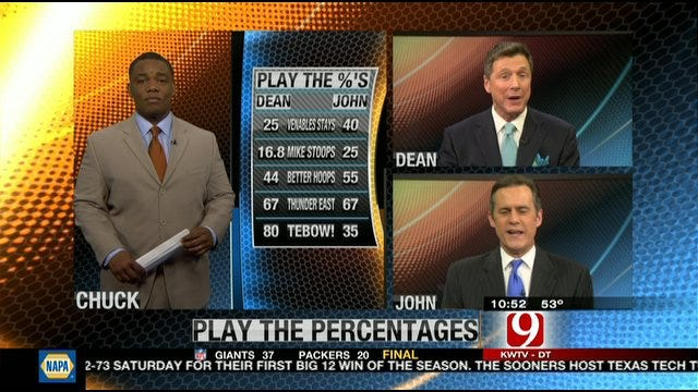 Play the Percentages: Jan. 15, 2012