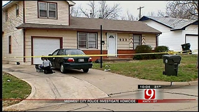 Police Search For Clues In Midwest City Woman's Death