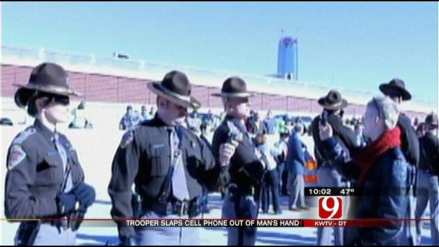 Trooper's Encounter With Protester Turns Physical