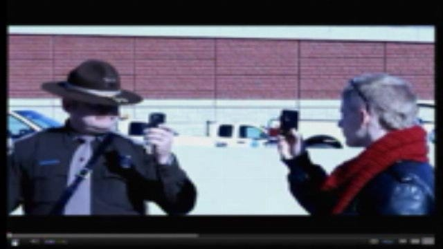 Occupy Protester Confronts OHP Trooper