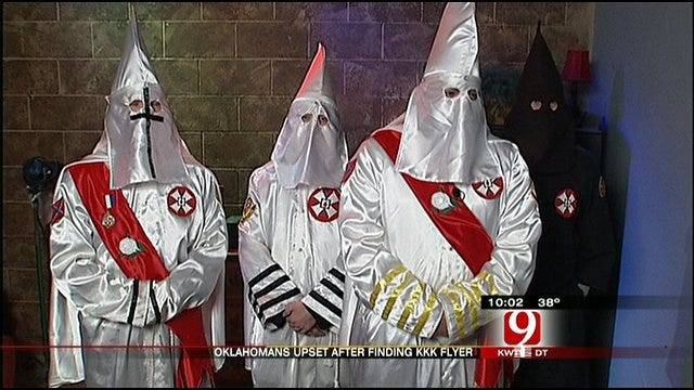 KKK Distributes Flyers In Oklahoma Towns