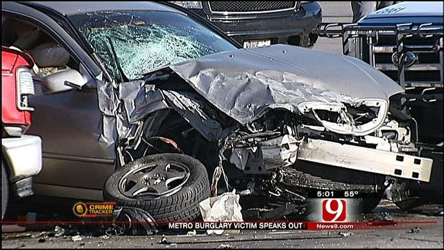 Burglary Suspects Cause Four-Car Crash