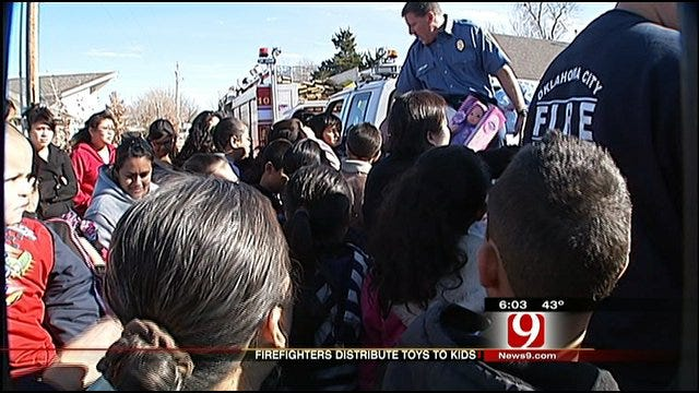 OKC Firefighters Deliver Christmas Toys
