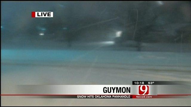 Winter Storm Brings Heavy Snow To Oklahoma Panhandle