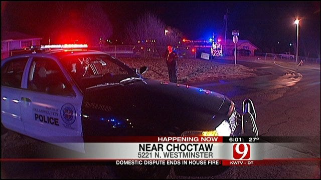 Domestic Dispute Ends With House On Fire In Choctaw