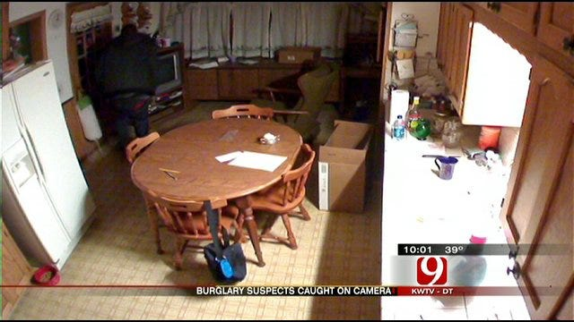 Warr Acres Home Burglary Suspects Caught On Security Cameras