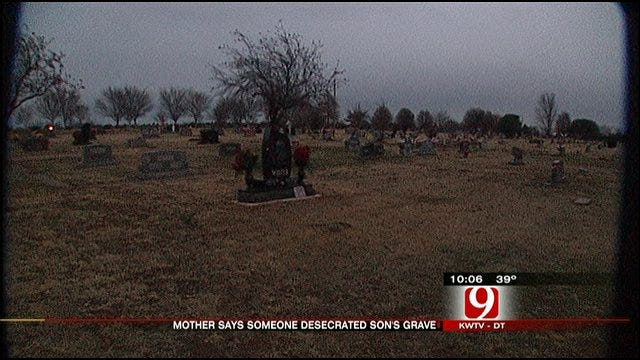 OKC Mother's Heart Broken After Son's Grave Desecrated