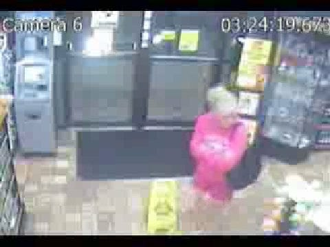 Surveillance Video Of Robbery Suspect