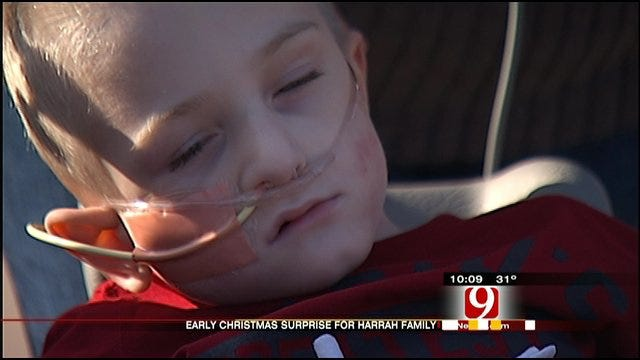 Harrah Police Deliver Early Christmas Surprise To Sick Boy