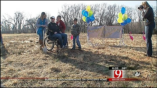 Friends Surprise OKC Officer With Groundbreaking On New Home