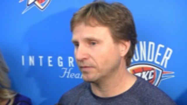 Thunder Head Coach Scott Brooks After Practice