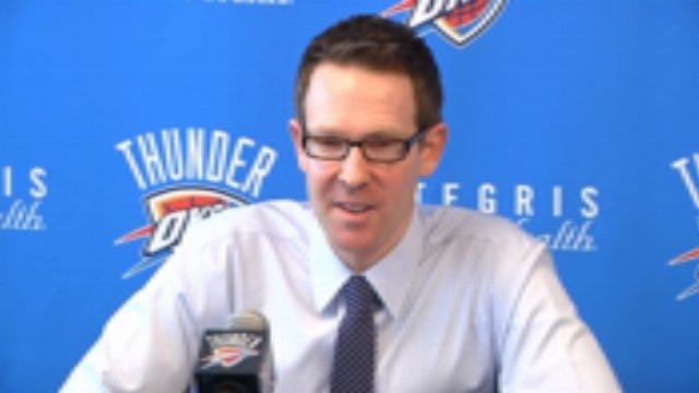 Thunder GM Sam Presti Holds First Press Conference