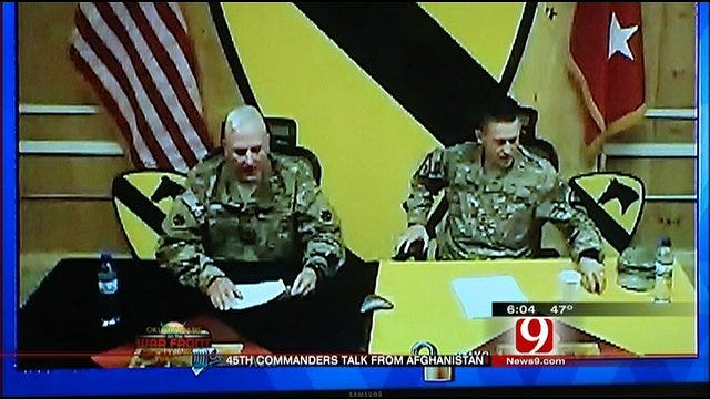 Oklahoma Soldiers Hold Online News Conference