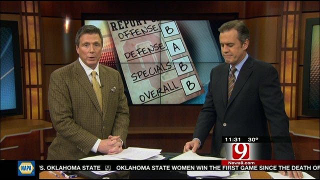 Oklahoma Report Card Against Iowa State