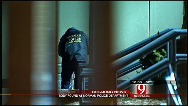 Police Investigate Body Found At Norman Police Department