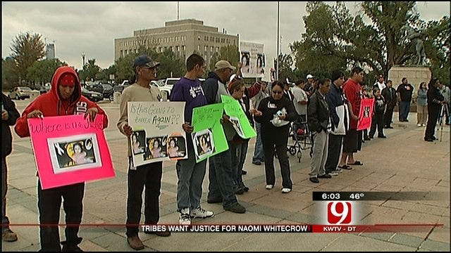 Tribal Members Rally At Capitol For Whitecrow