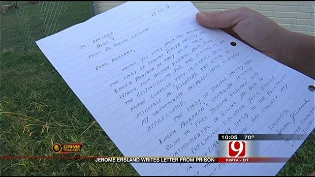 Pharmacist Convicted Of Murder Sends Exclusive Letter To News 9