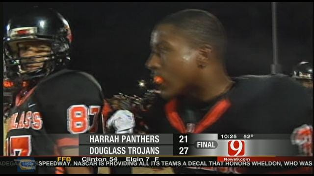 Douglass Ends Harrah's Perfect Season With 27-21 Win
