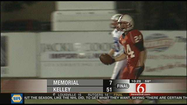 Bishop Kelley Trounces Tulsa Memorial, 51-7