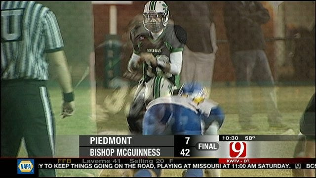 Bishop McGuinness Cruises Past Piedmont, 42-7