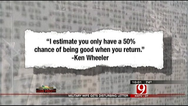 Letter Disturbs Oklahoma Soldier's Wife
