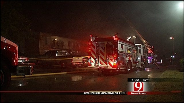Lighting Strike To Blame For NE OKC Apartment Fire