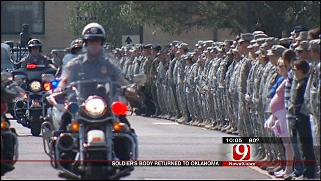 Soldier's Body Returned Home From Afghanistan