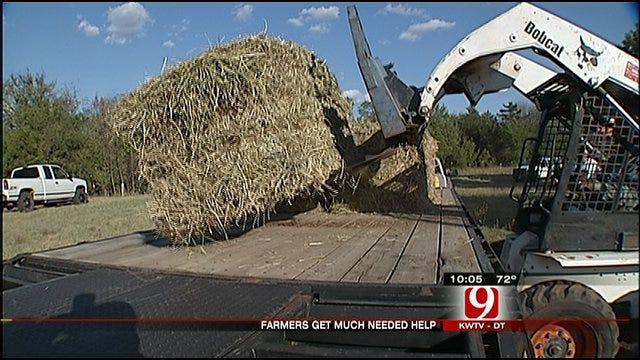 Teamsters Bring Hay To Drought Stricken Oklahoma Farmers