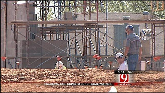 Out Of State Workers Getting Oklahoma Construction Jobs