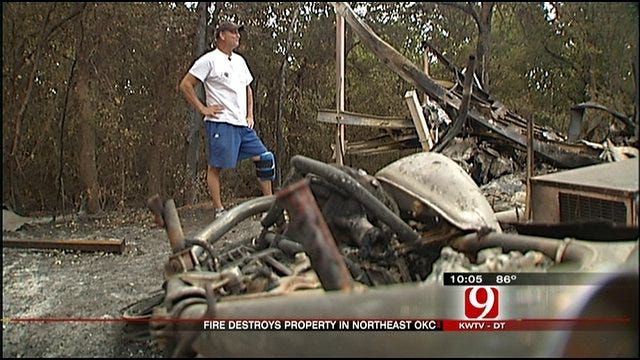 NE Oklahoma City Fire Victims Still Assessing Damage