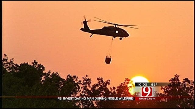Man Sought For Possible Interference With Firefighting Helicopter