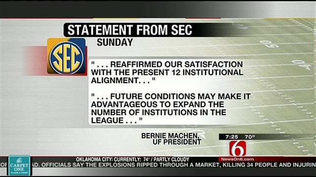 SEC Denies Entry Of Texas A&M To SEC