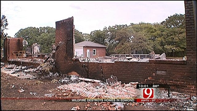 Edmond Residents Clean Up After Wildfires