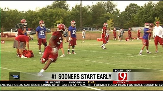 Bob Stoops After The Sooners' First Practice