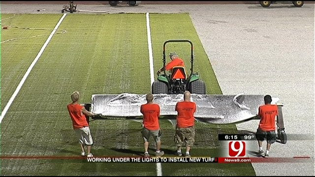 Moore Gets New Turf Surface In Time For Football
