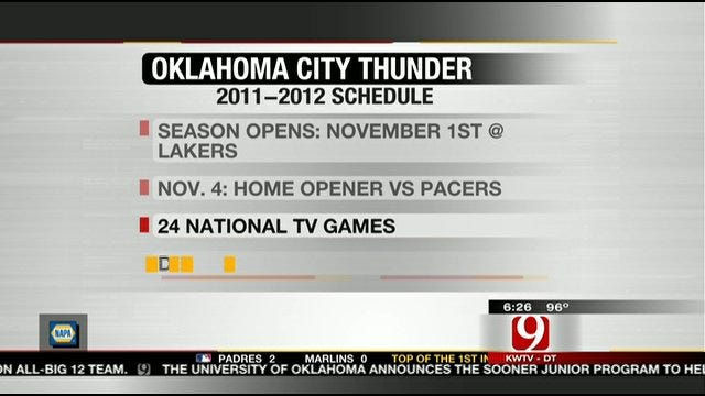 Thunder Releases 2011-12 Schedule