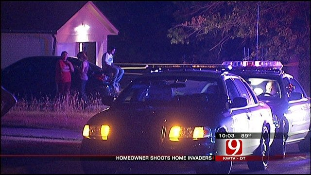 Two OKC Burglary Suspects Shot, One Arrested, One At Large