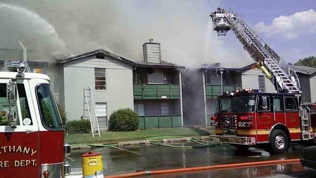 Firefighters Battle Flames, Summer Heat In Warr Acres Blaze