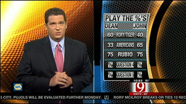 Play The Percentages: June 19, 2011