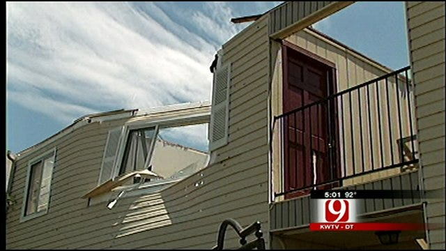 Norman Apartments Suffer Storm Damage