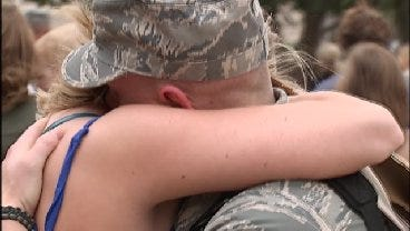 Oklahoma Airmen Reunited With Friends, Family After 4 Month Deployment