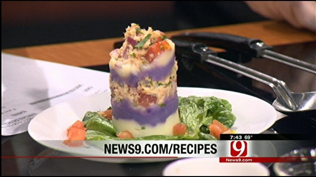 Causa Salad From the Executive Chef Of Chapperel Energy