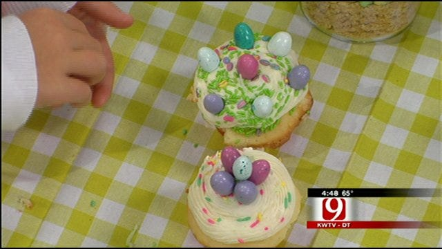 Caryn Ross' Easter Coconut Cupcakes with Vanilla Bean Cream Cheese Frosting