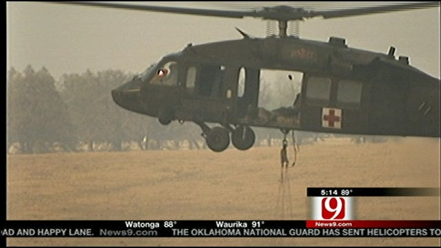 Oklahoma National Gaurd Helicopter Protocol For Fire Response